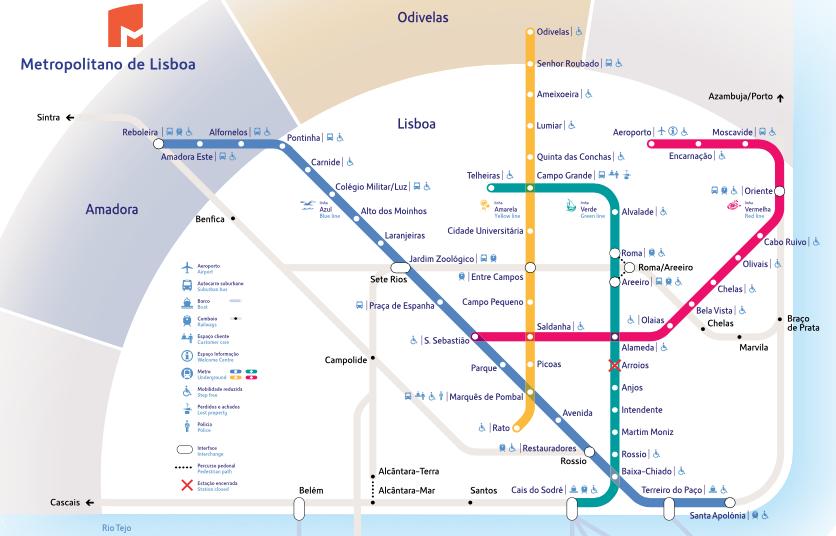 Diagrama do Metro de Lisboa